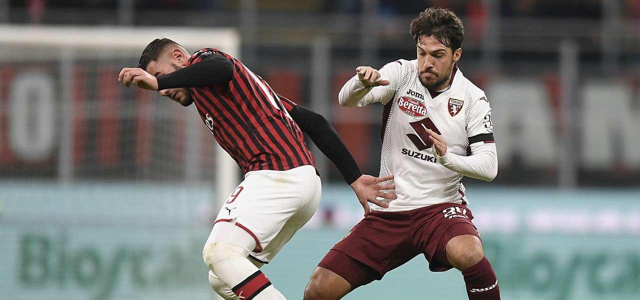 Theo Hernandez Verdi Milan Torino lapresse 2020