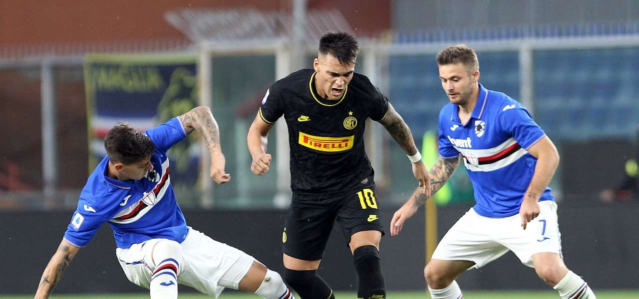 Lautaro Martinez Linetty Inter Sampdoria lapresse 2020