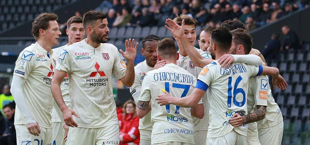 Chievo bianca gol Garritano Giaccherini lapresse 2020