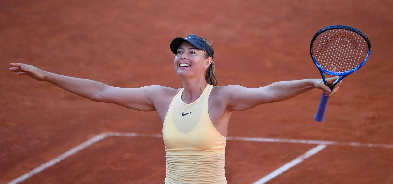 Maria Sharapova vittoria Roma lapresse 2020