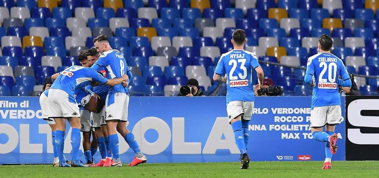 Napoli esultanza gol lapresse 2020