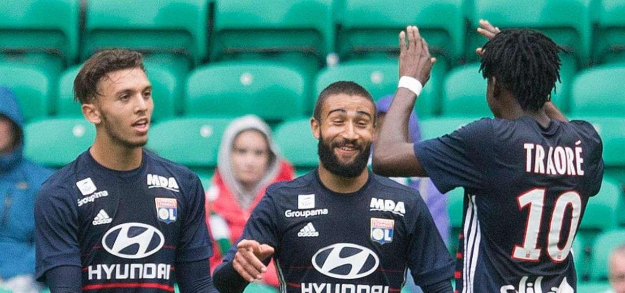 Amine Gouiri Bertrand Traore Lione lapresse 2020