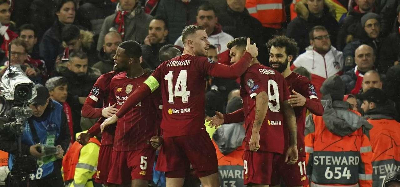 Wijnaldum Henderson Firmino Salah Liverpool gol lapresse 2020