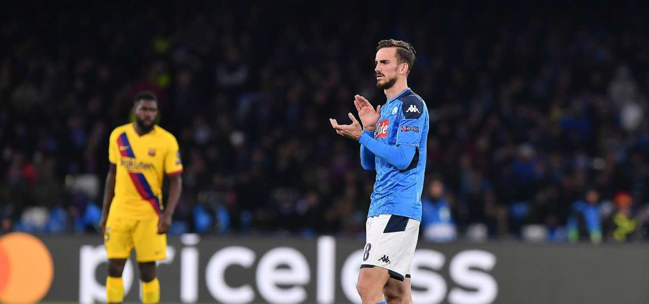 Fabian Ruiz Umtiti Napoli Barcellona lapresse 2020