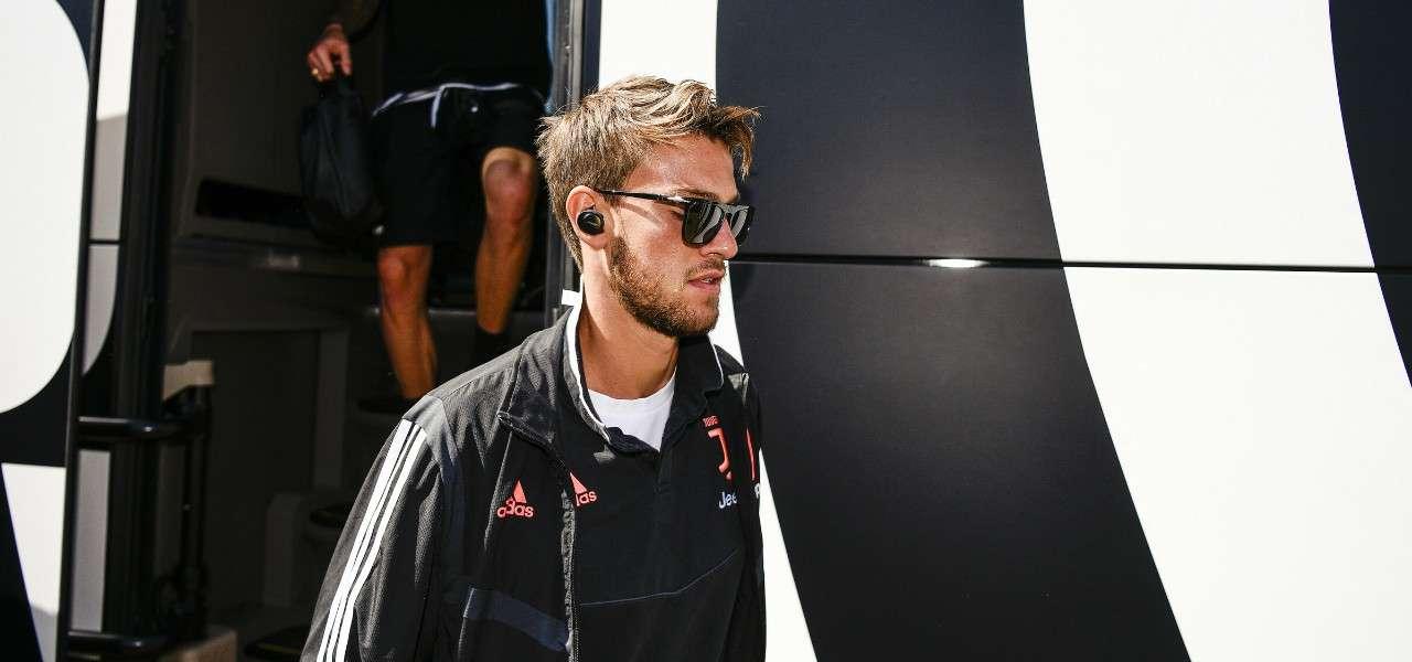 Daniele Rugani Juventus pullman lapresse 2020