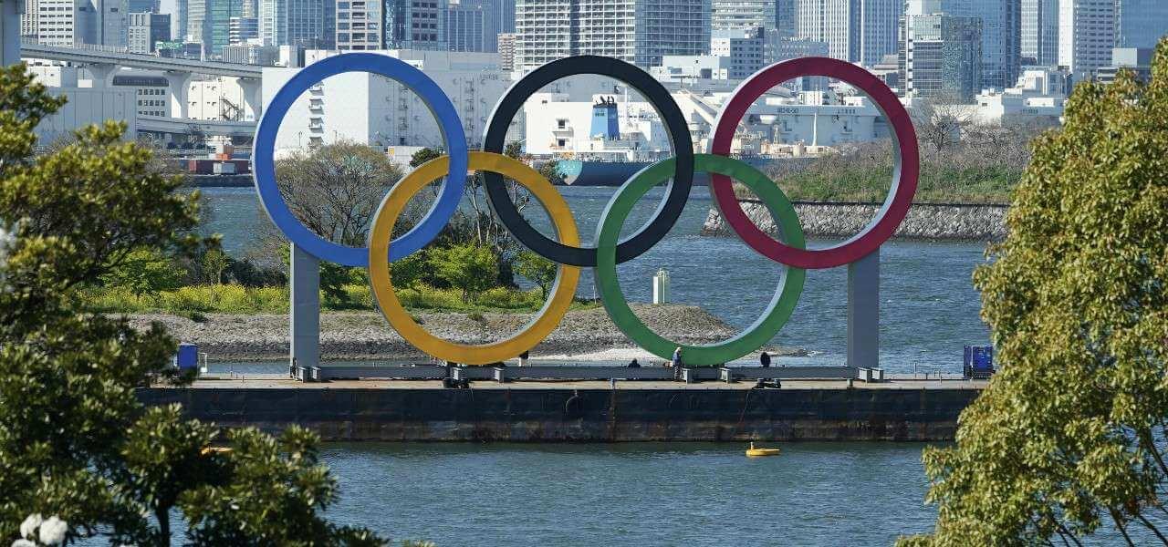 Olimpiadi Tokyo cinque cerchi lapresse 2020