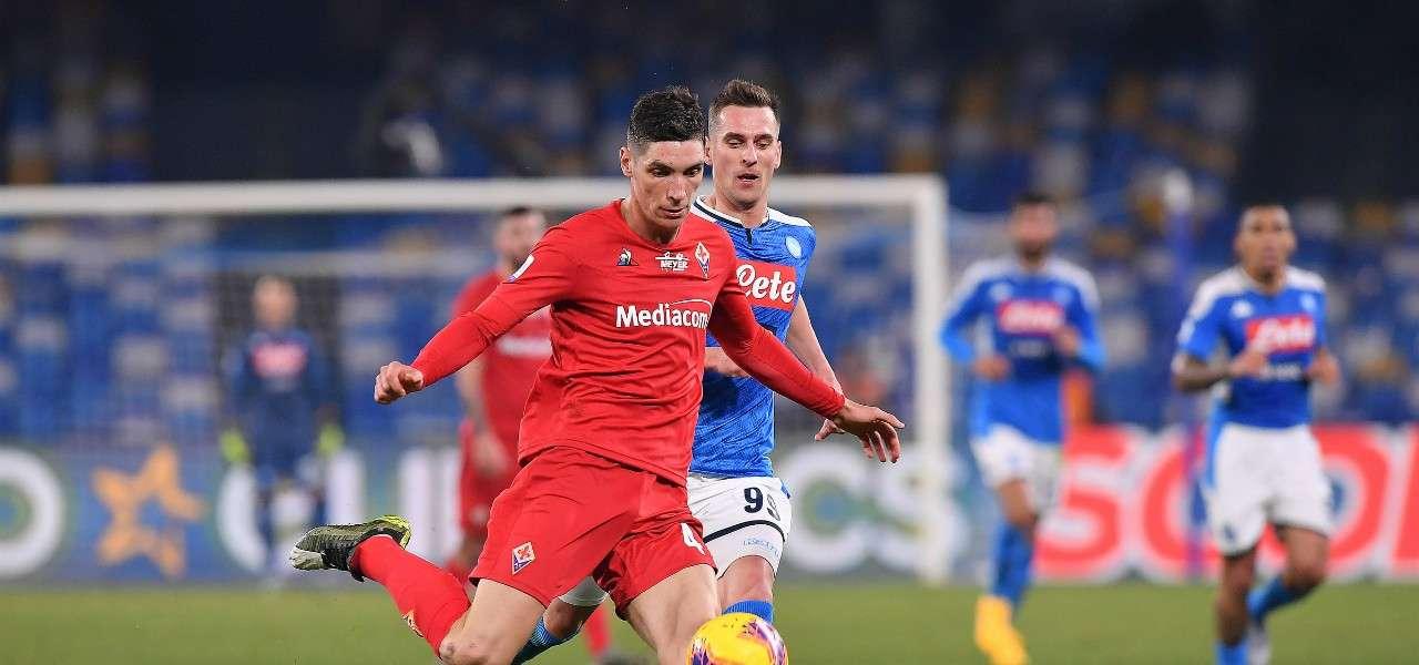 Nikola Milenkovic Milik Fiorentina Napoli lapresse 2020