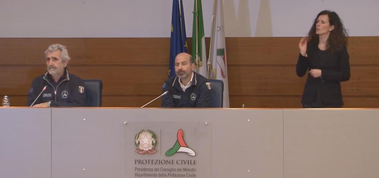 miozzo dangelo conferenza stampa protezione civile