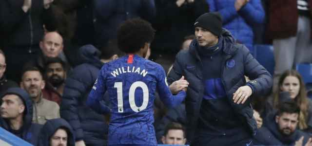 Willian Lampard Chelsea saluto lapresse 2020 640x300