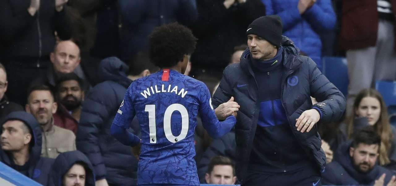 Willian Lampard Chelsea saluto lapresse 2020