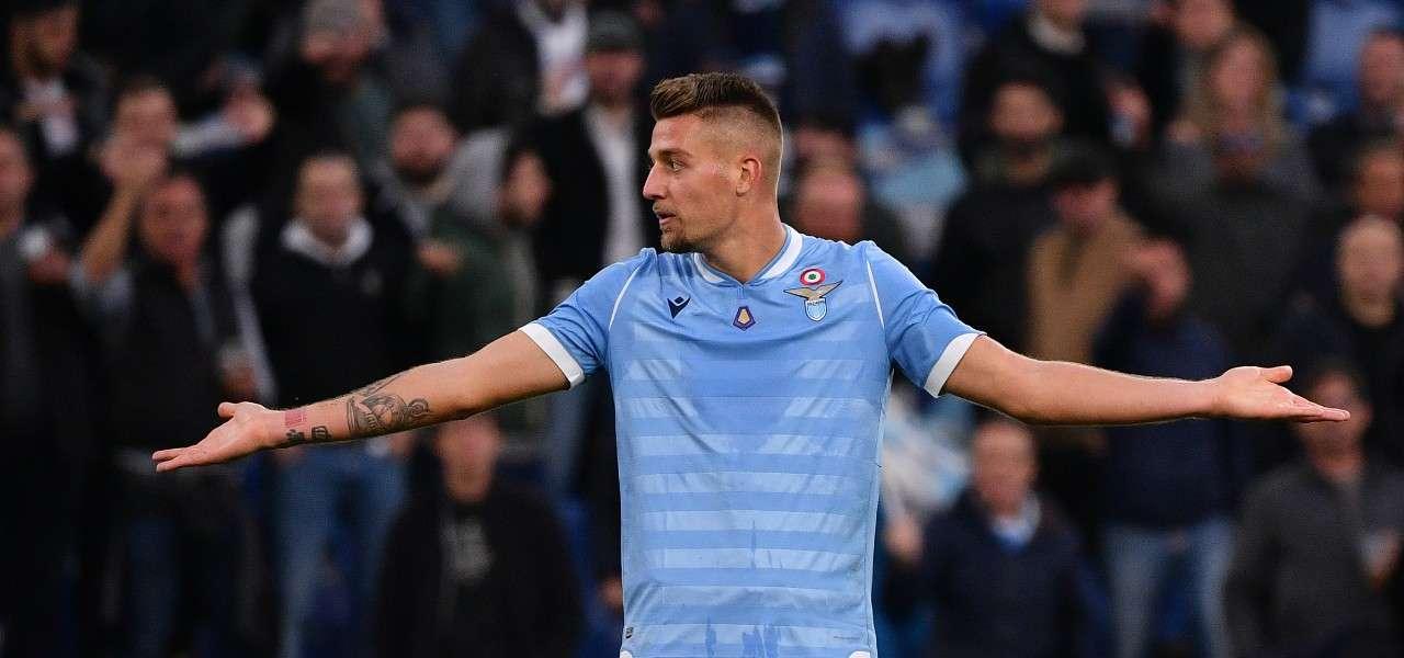 Milinkovic Lazio perplesso lapresse 2020