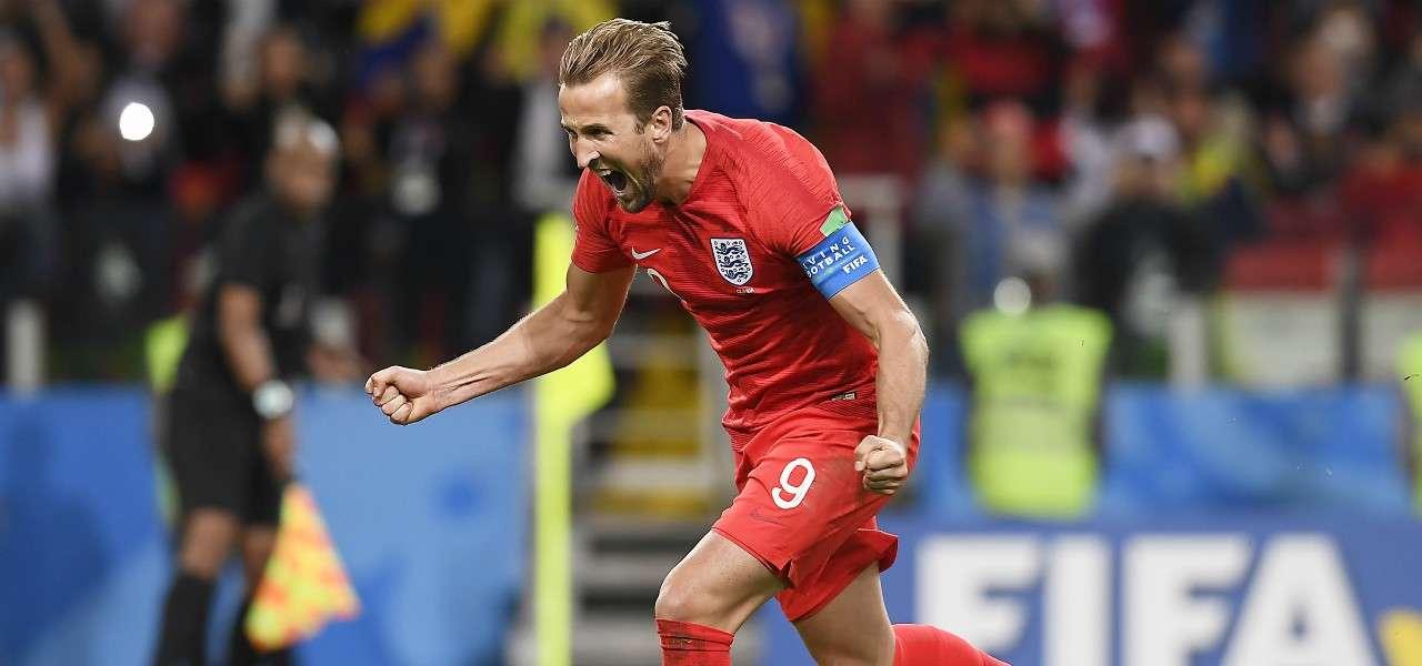 Harry Kane Inghilterra capitano esultanza lapresse 2020