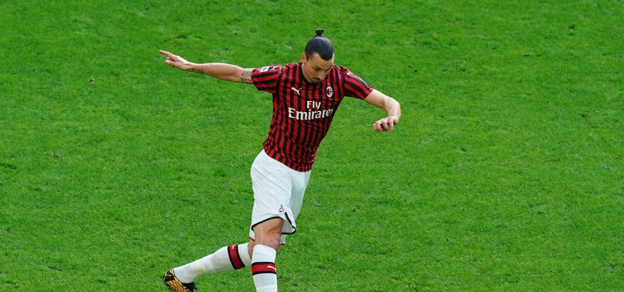 Zlatan Ibrahimovic Milan controllo lapresse 2020