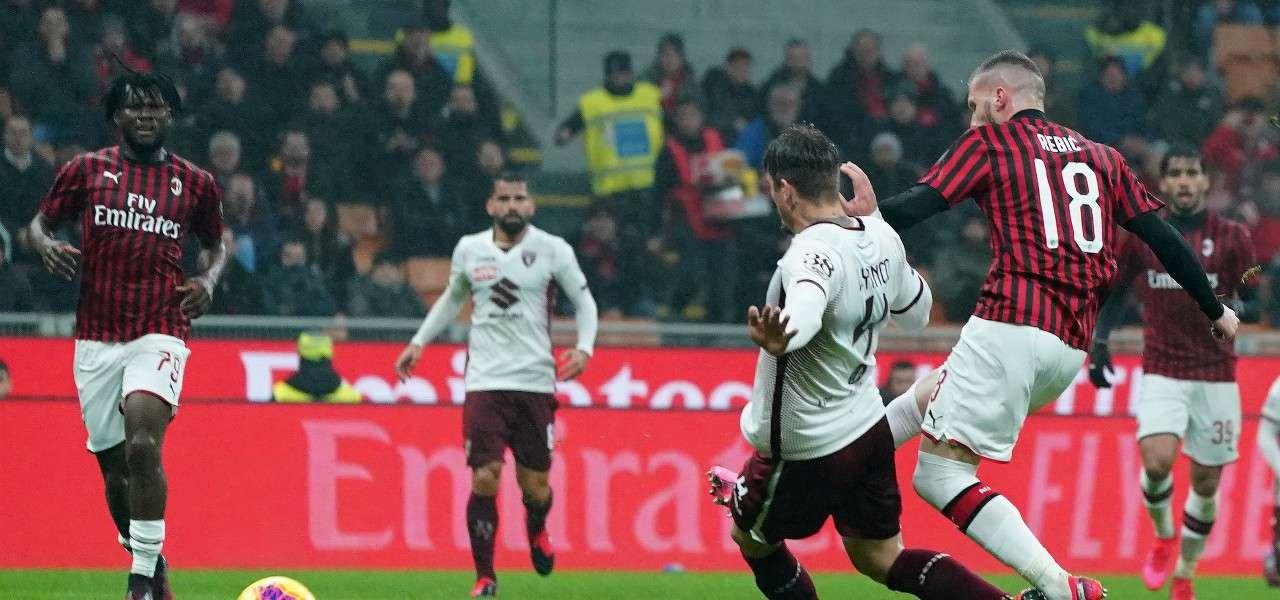 Ante Rebic gol Milan Torino lapresse 2020