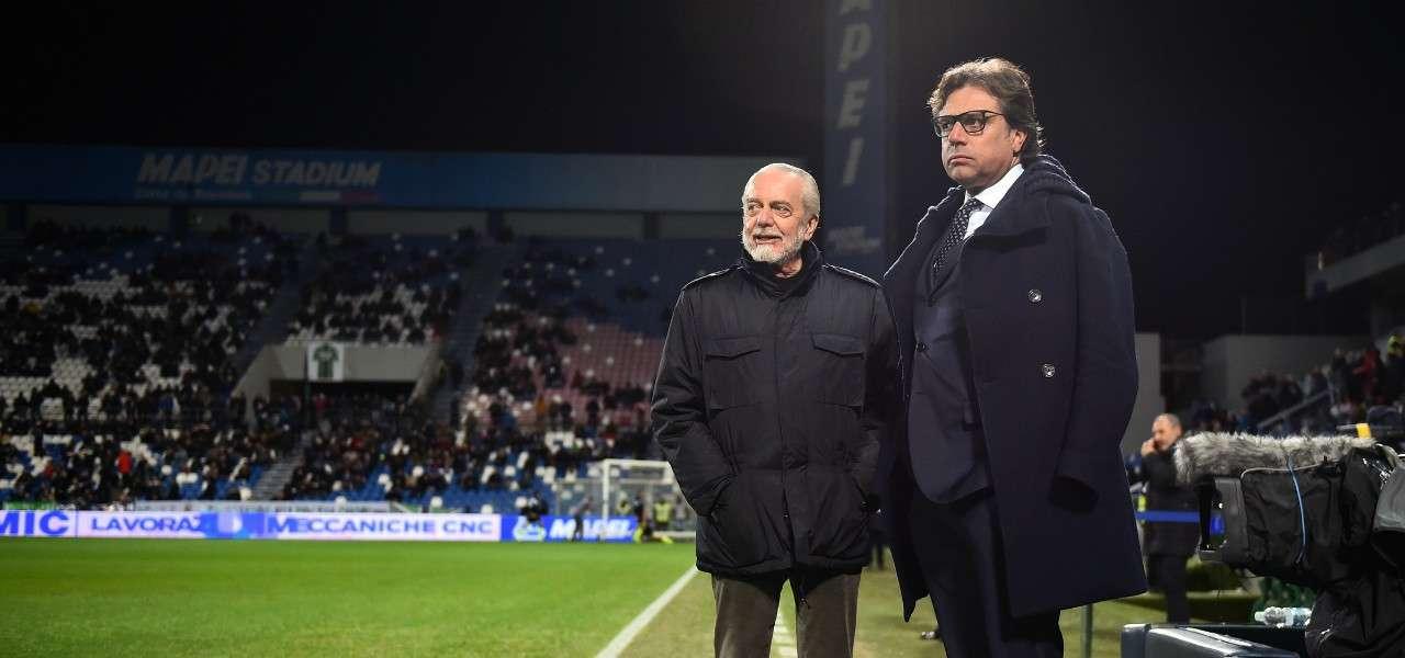De Laurentiis Giuntoli Napoli lapresse 2020