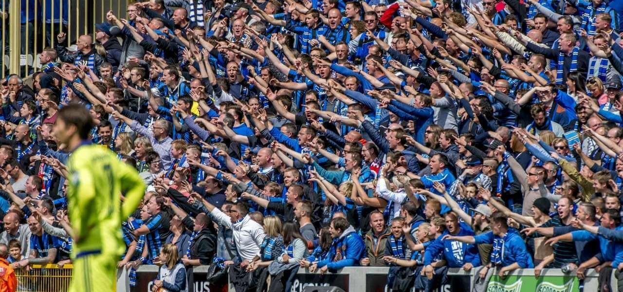 Bruges tifosi festa lapresse 2020