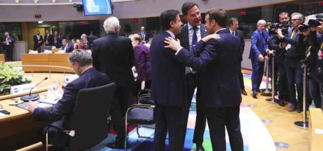 Conte, Macron e Rutte