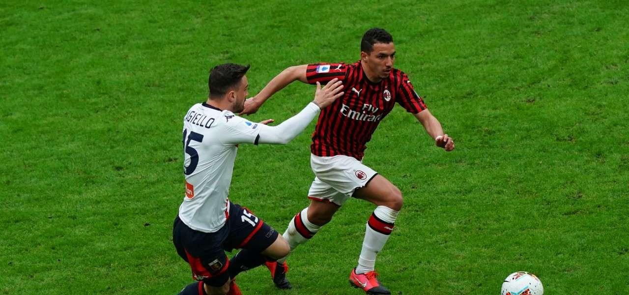 Bennacer Augiello Milan Genoa lapresse 2020
