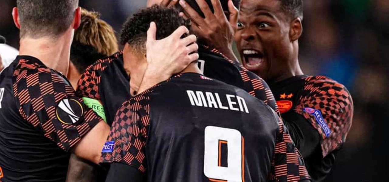 Donyell Malen Psv gol facebook 2020