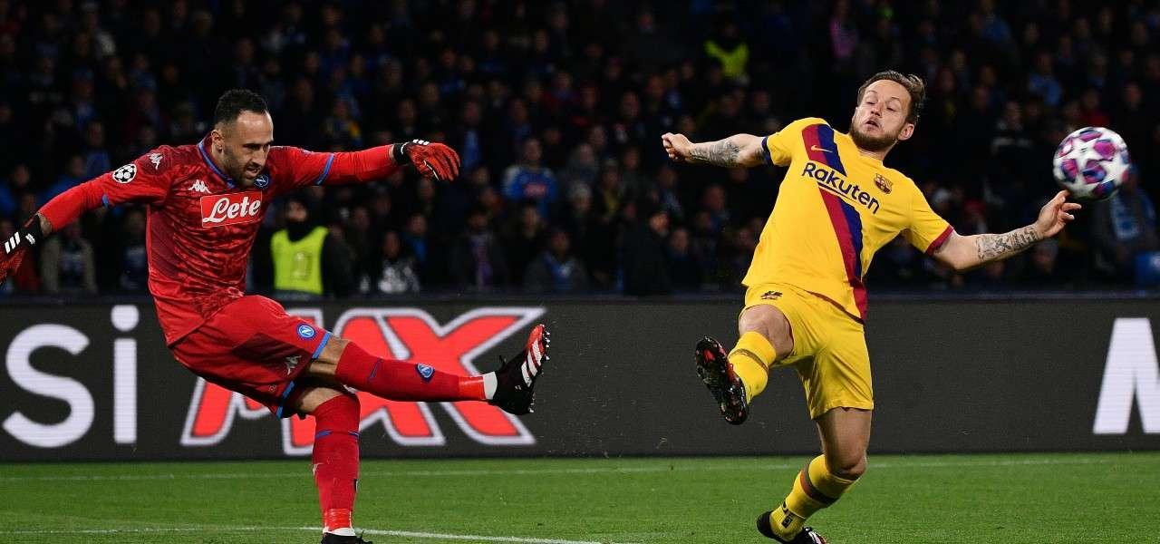 Ospina Rakitic Napoli Barcellona lapresse 2020