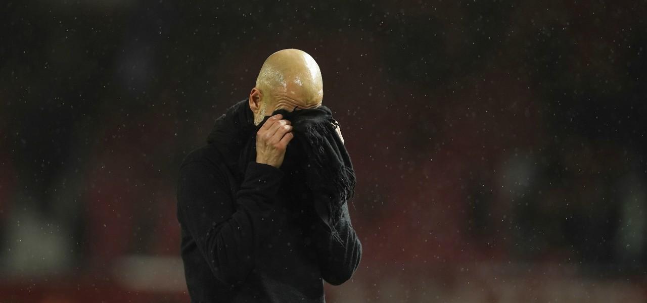 Pep Guardiola disperazione lapresse 2020