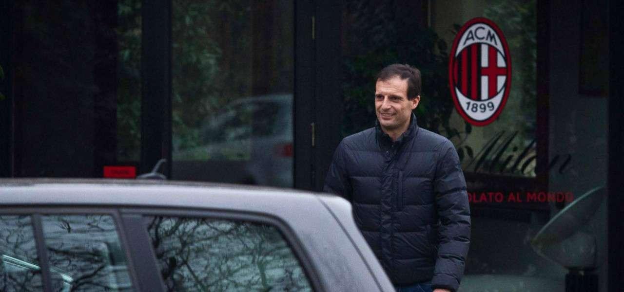 Massimiliano Allegri Milanello lapresse 2020