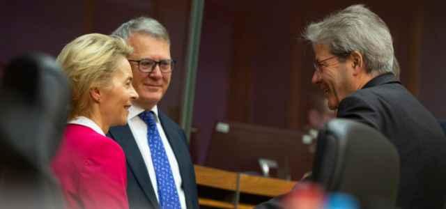 Gentiloni e Von der Leyen Unione Europea