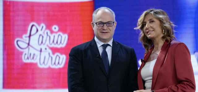 Myrta Merlino Roberto Gualtieri lapresse 2020 640x300