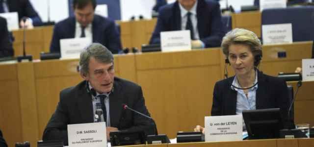 Parlamento Ue, Sassoli e Von der Leyen