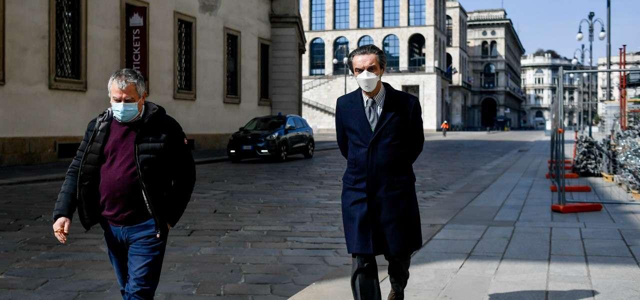 Attilio Fontana Dumo Milano lapresse 2020