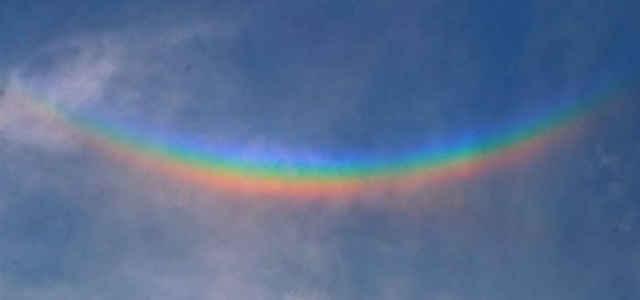 L'arcobaleno rovesciato nei cieli del Veneto