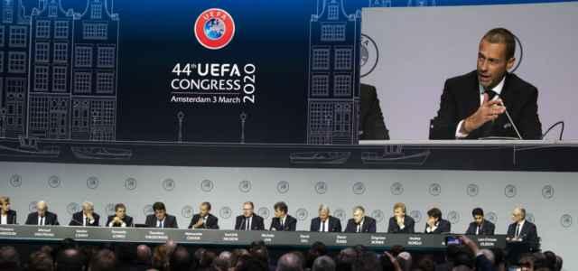 Aleksander Ceferin Uefa congresso lapresse 2020 640x300