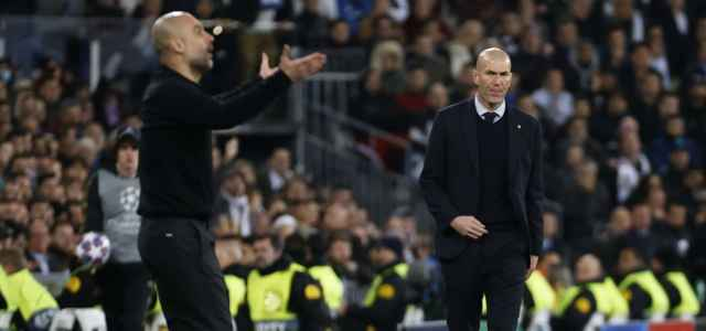 Guardiola Zidane sguardo lapresse 2020 640x300