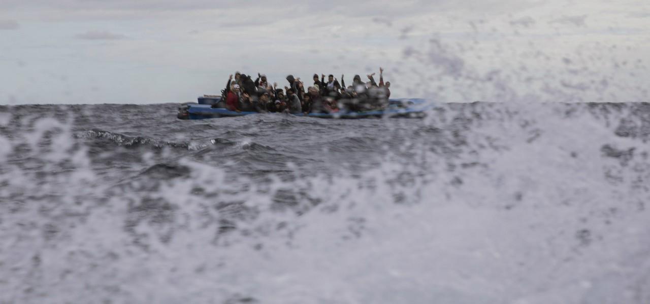 Migranti mare lapresse 2020