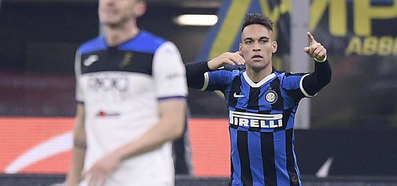 Lautaro Martinez gol Inter Atalanta lapresse 2020