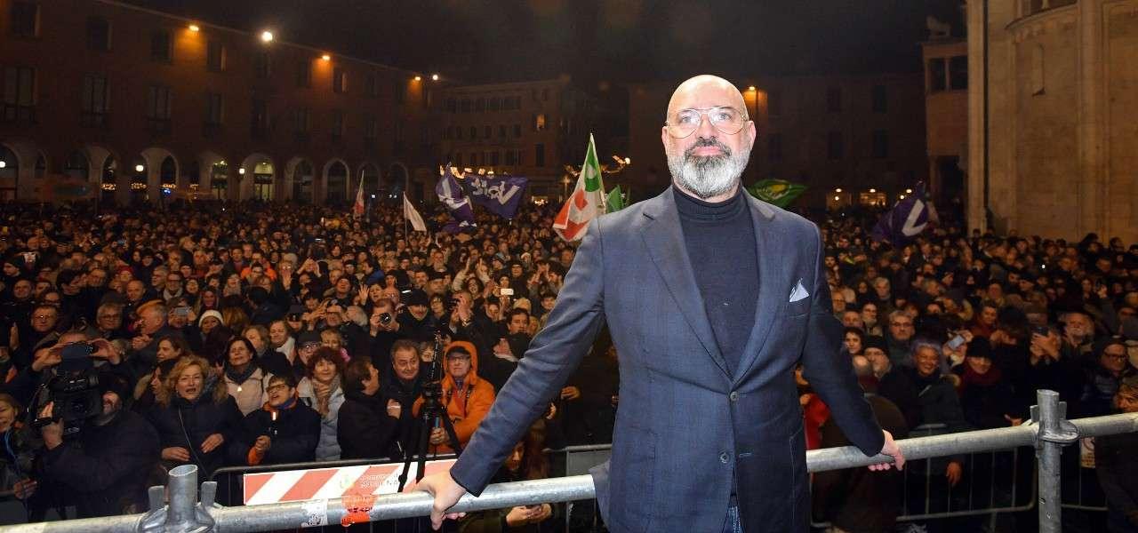 Stefano Bonaccini festa Pd lapresse 2020