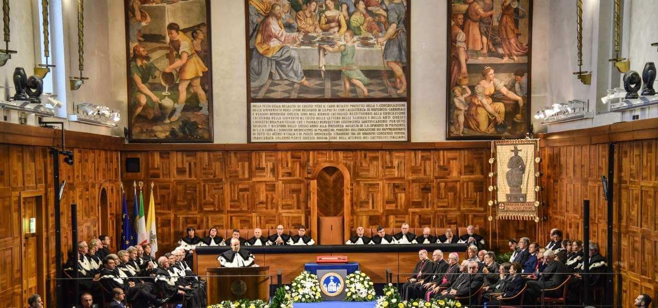 Aula Magna Universita Cattolica lapresse 2020