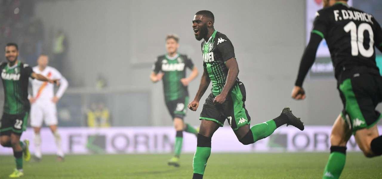 Jeremie Boga gol Sassuolo Roma lapresse 2020