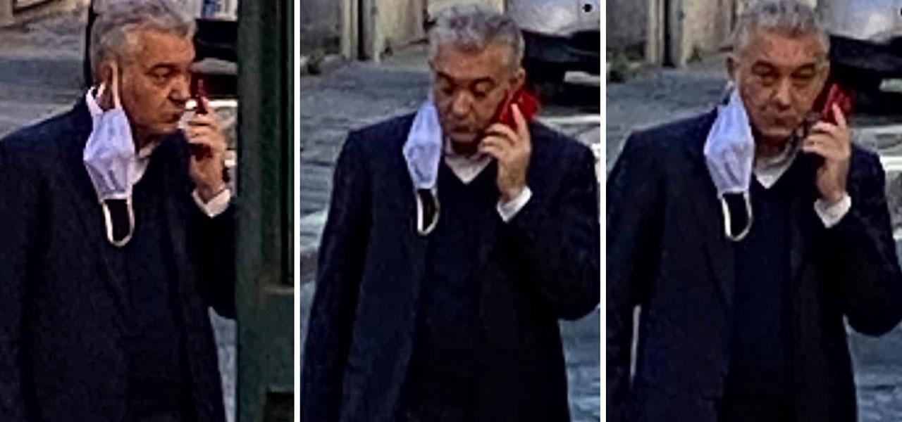 Il commissario Domenico Arcuri senza mascherina