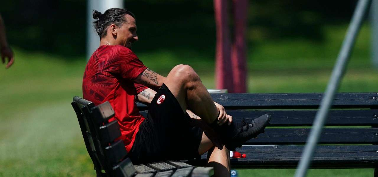 Zlatan Ibrahimovic Milan allenamento lapresse 2020