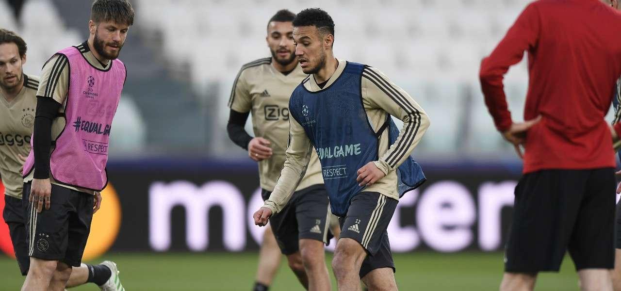 Noussair Mazraoui Ajax allenamento lapresse 2020