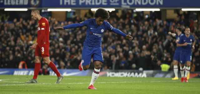Willian esultanza Chelsea Liverpool lapresse 2020 640x300