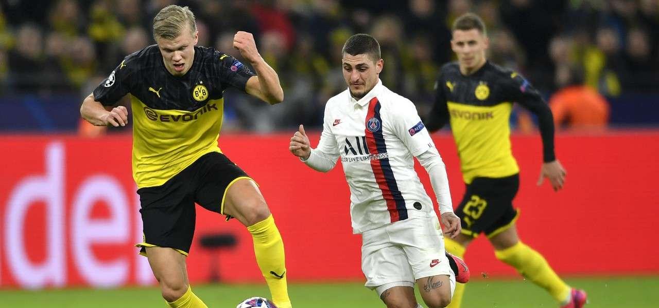 Haaland Verratti Dortmund Psg lapresse 2020