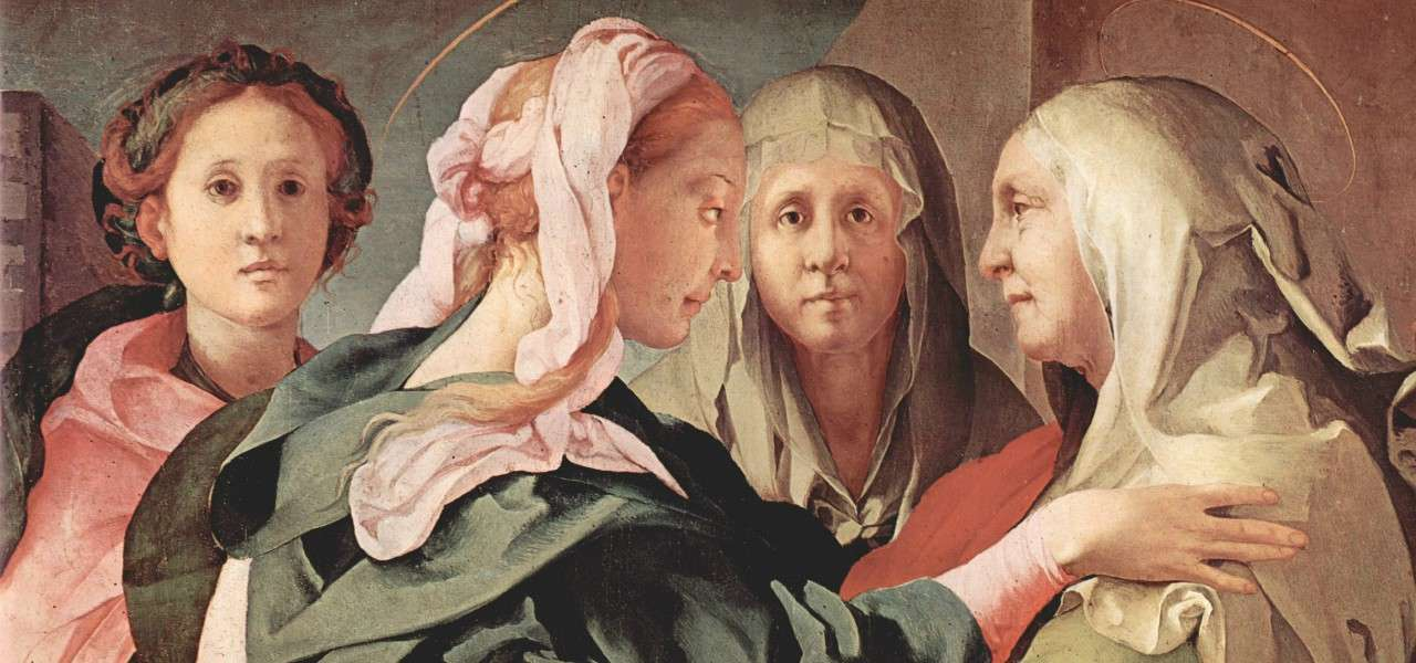 pontormo visitazione maria elisabetta 1528arte1280