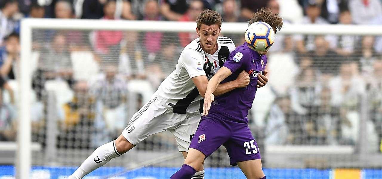 Chiesa Rugani Fiorentina Juventus lapresse 2020