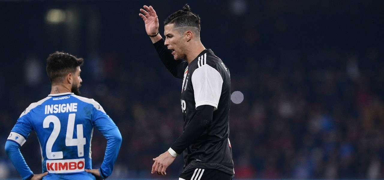 Cristiano Ronaldo Insigne polemica Napoli Juventus lapresse 2020
