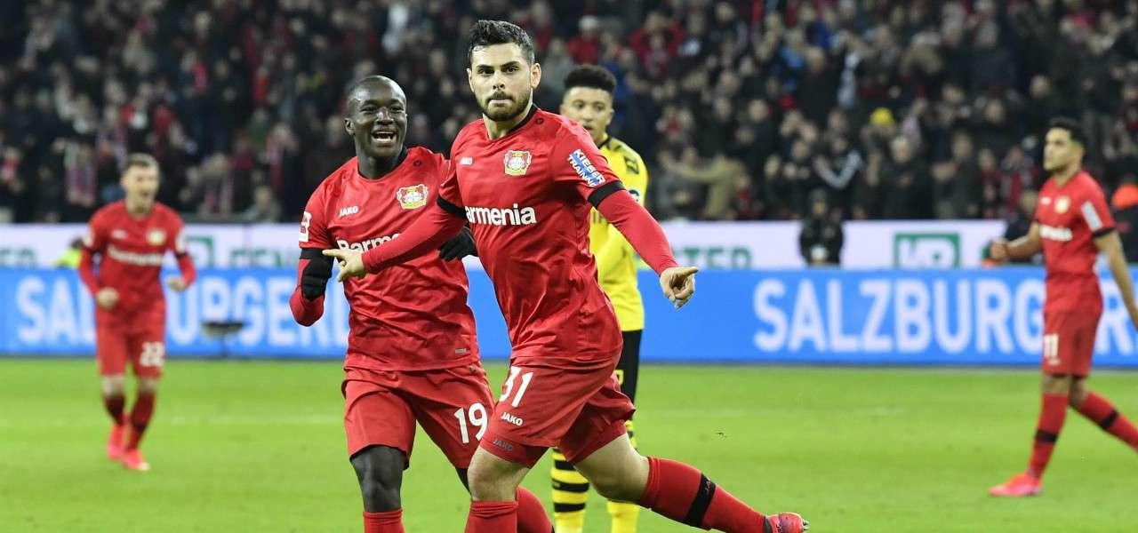 Kevin Volland gol Leverkusen Dortmund lapresse 2020