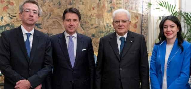 Conte, Mattarella, Azzolina e Manfredi