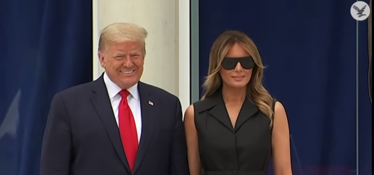 Donald e Melania Trump foto  YouTube
