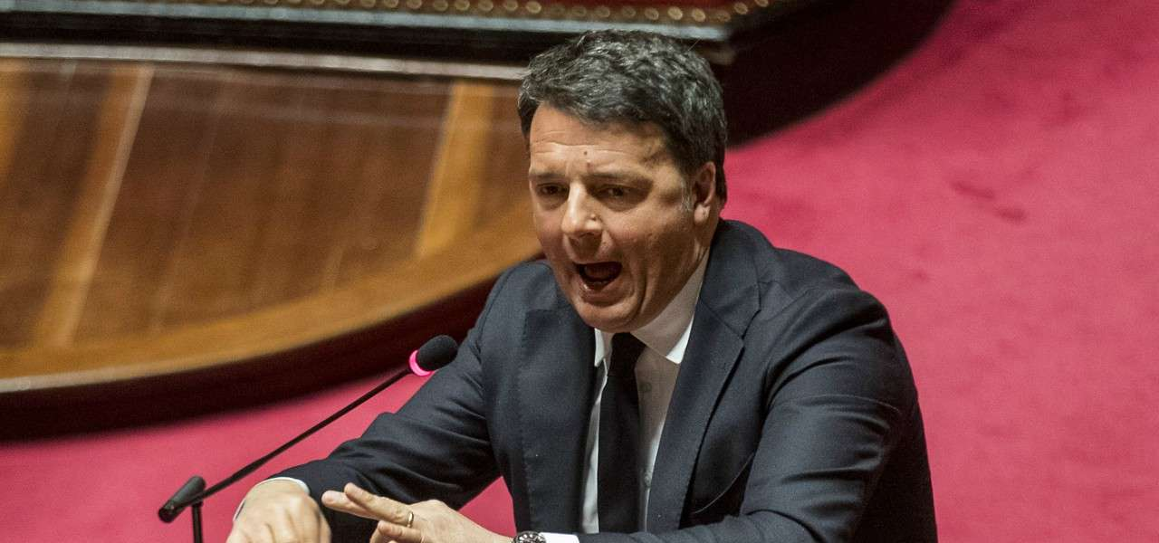 Matteo Renzi foglio discorso lapresse 2020